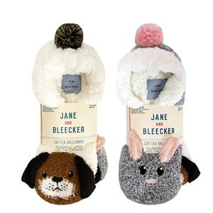 NEW Jane and Bleecker 2 Pair Critter Socks 4-10